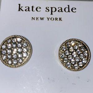 NWT Kate Spade Circle Gold-Tone Stud CZ